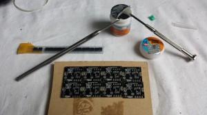 Placing solder paste